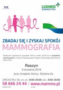 plakat LUX MED mammografia