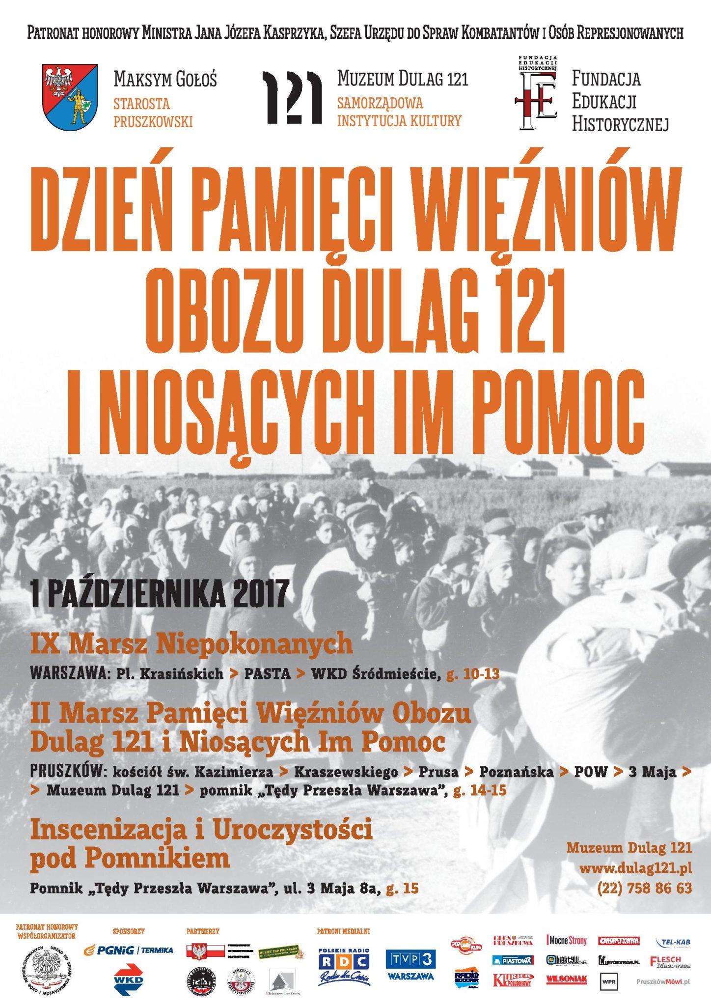 Plakat Marsz Pamieci
