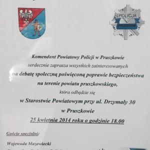 Debata społeczna – bezpieczeństwo na terenie powiatu pruszkowskiego