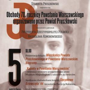 Obchody 70. rocznicy Powstania Warszawskiego w Powiecie Pruszkowskim