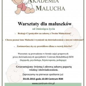 Akademia Malucha – warsztaty dla najmłodszych