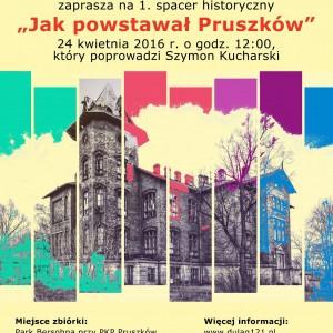 """Spacer """"Jak powstawał Pruszków?"""" – 24.04.2016"""