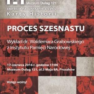 Muzeum uczci 71 rocznicę Procesu Szesnastu