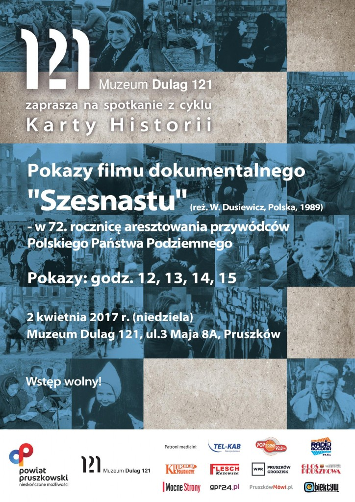 plakat pokazy filmowe
