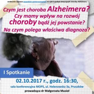 Cykl wykładów o chorobie Alzheimera