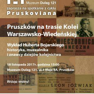 """""""Pruszków na trasie Kolei Warszawsko-Wiedeńskiej"""" – Pruskoviana w Muzeum Dulag 121"""